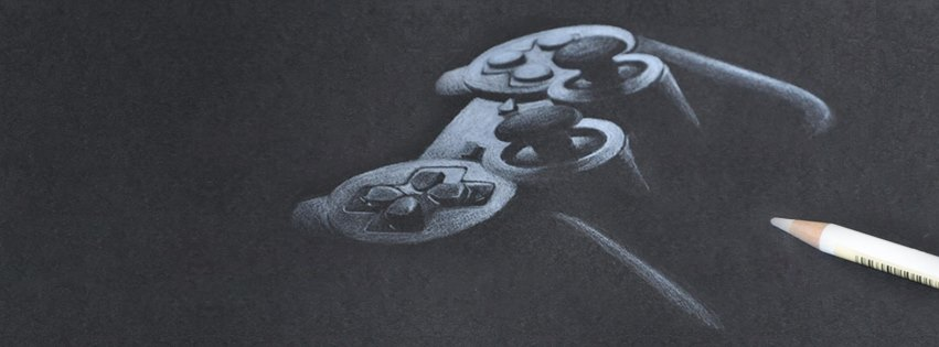 Gamer the drawing with white on black